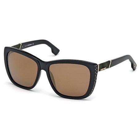 Diesel Women's DL0089 Butterfly Black Sunglasses (Diesel Womens Sunglasses)