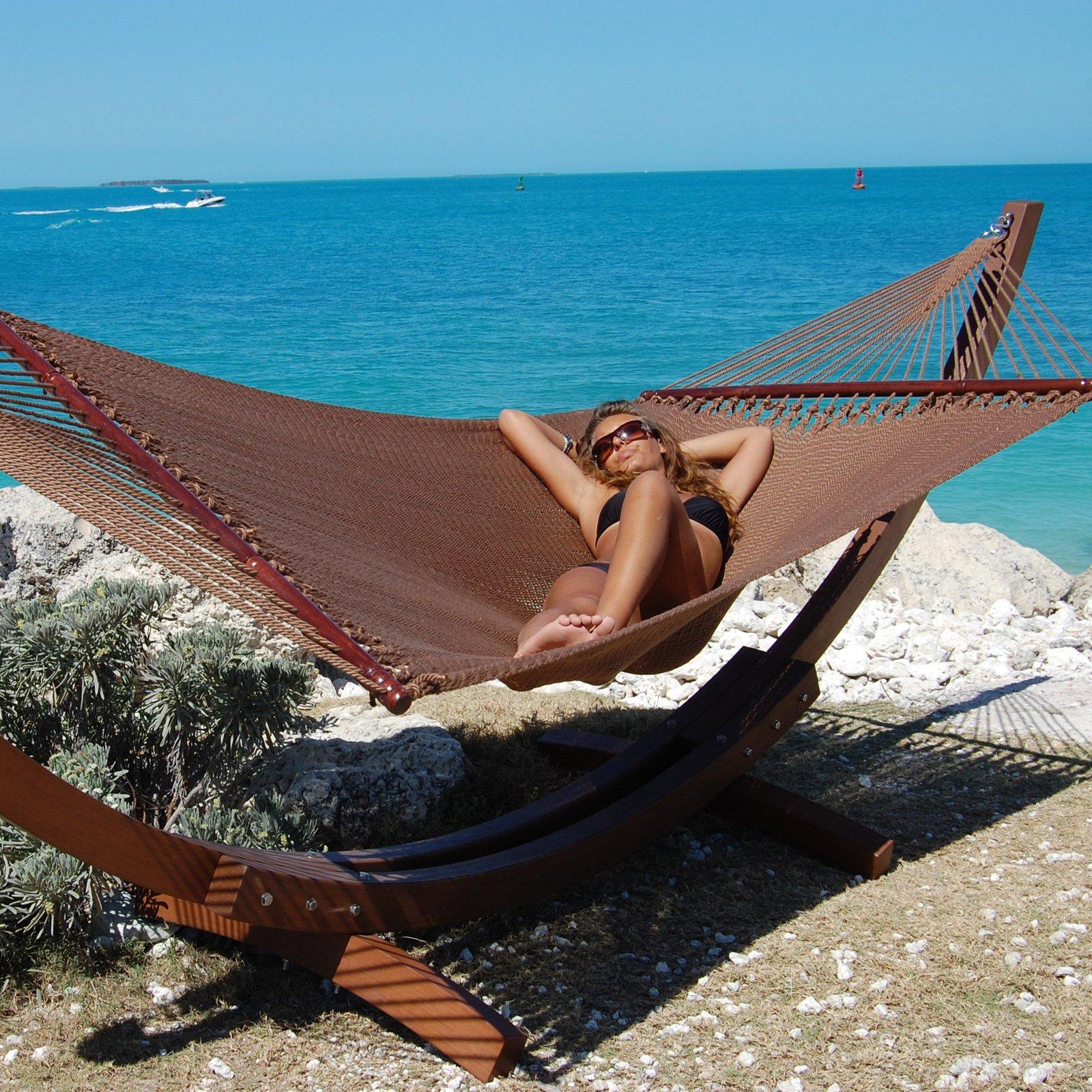 Jumbo Caribbean Hammock- Mocha