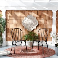 Everleigh Outdoor Side Chairs Black