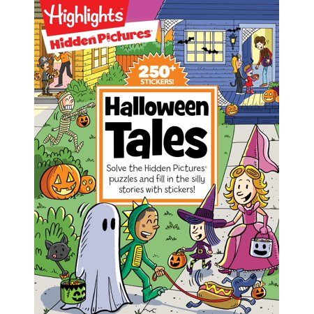 Halloween Tales : Solve the Hidden Pictures® puzzles and fill in the silly stories with - Halloween Worksheet Games