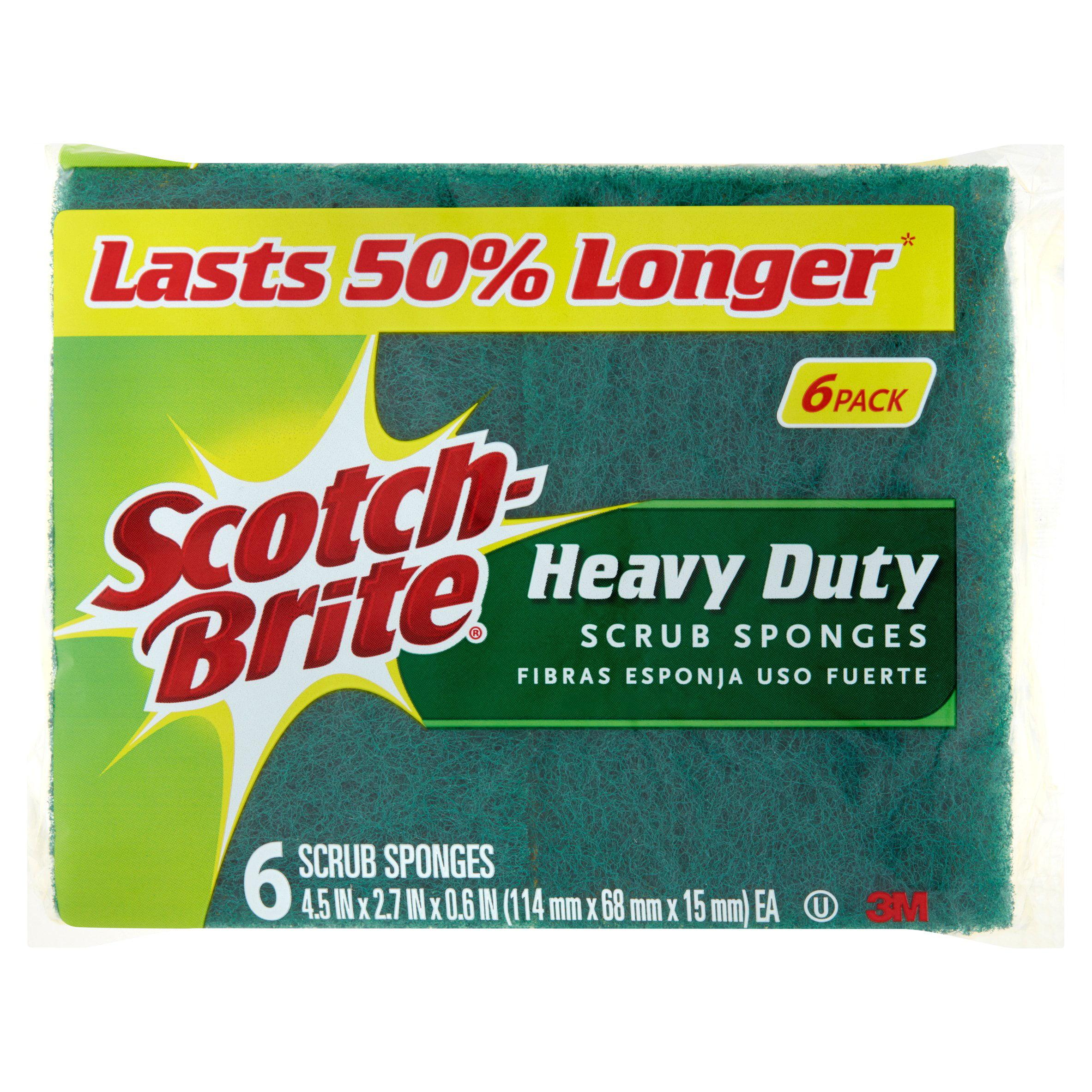 Scotch-Brite Heavy Duty Scrub Sponges Value Pack, 6 Sponge per Pack