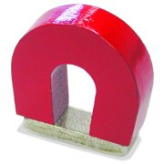 Master Magnetics 07279 Horseshoe Magnet With Keeper, 1 in Dia X 1 in L X 1 in W X 0.32 in H, 2 lb