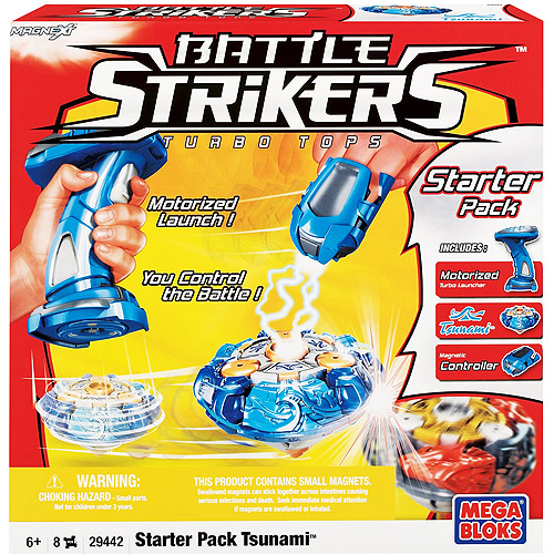 Mega Bloks Magnext Battle Strikers Starter Pack Set Motorized Tsunami Turbo Tops by COMPANY NOT AVAILABLE