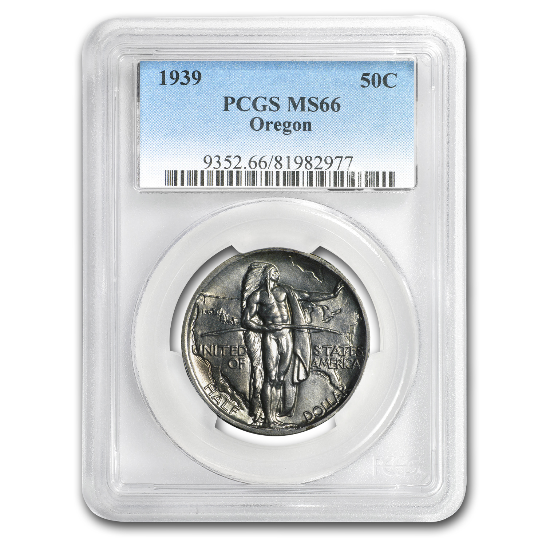 1939 Oregon Commemorative Half Dollar MS-66 PCGS