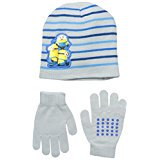 Little Boys' Yellow Friends Beanie and Glove Set, Multi, One Size](Minion Outfits)