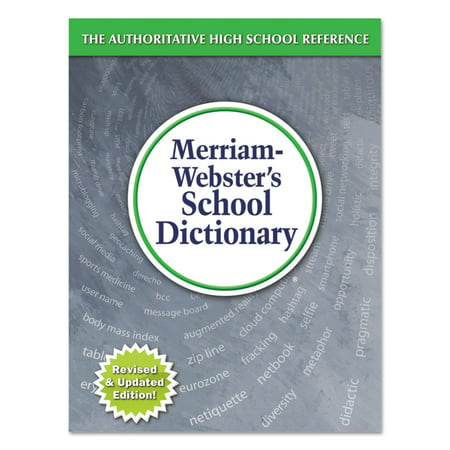 Merriam Webster School Dictionary  Grades 9 11  Hardcover  1 280 Pages