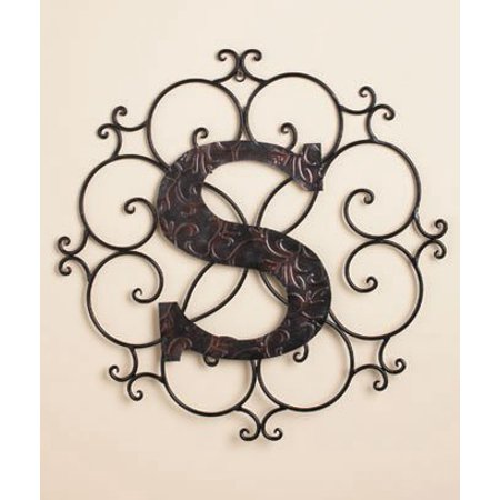 Personalized Metal Embossed Monogram Wall Hanging  S   Comes Ready To Hang By Ltd Commodities