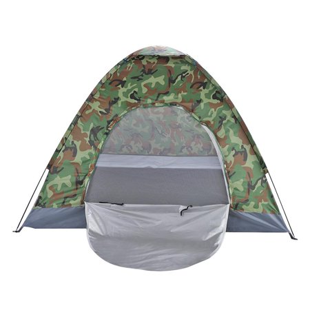 Ktaxon 4 Person Folding Tent Waterproof Summer Outdoor Camping Camouflage Hiking