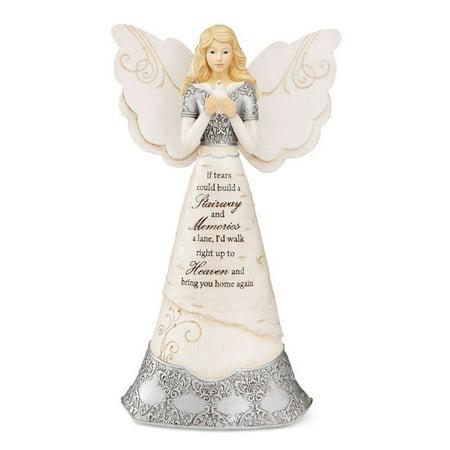 Pavilion Gift Company -Sympathy Angel Holding Dove, 8 (Sympathy Wine)