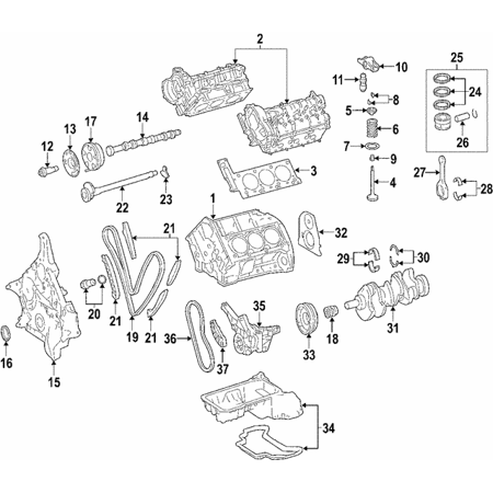 Genuine OE Mercedes-Benz Valve Lifters 642-050-00-80