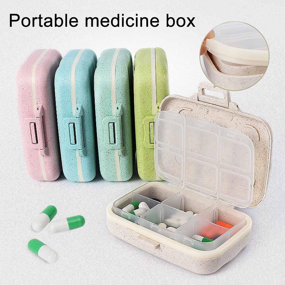 Heepo 3/6 Slots Moisture-proof Pill Box Medicine Storage Case Travel Drug Organizer
