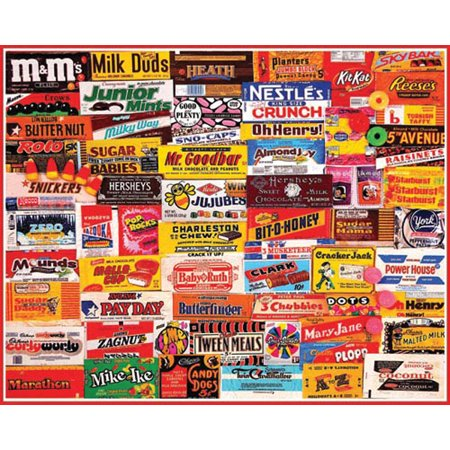White Mountain Puzzles Candy Wrappers - 1000 Piece Jigsaw - Halloween 1000 Piece Puzzle