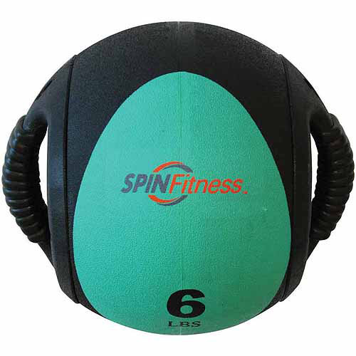 SPIN Fitness Commercial-Grade Dual Grip Medicine Ball, 6 lbs