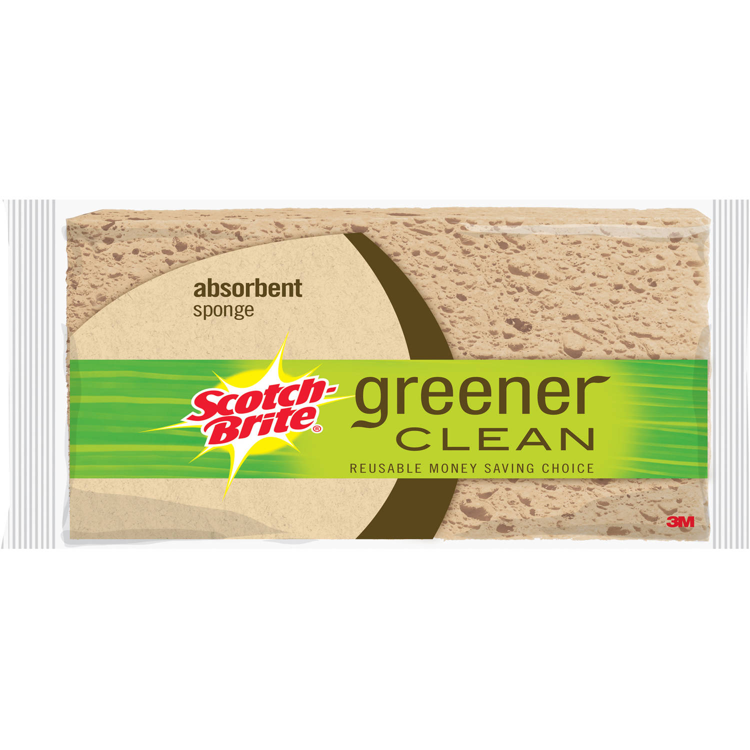 Scotch-Brite Greener Clean Absorbent Sponges, 6 count