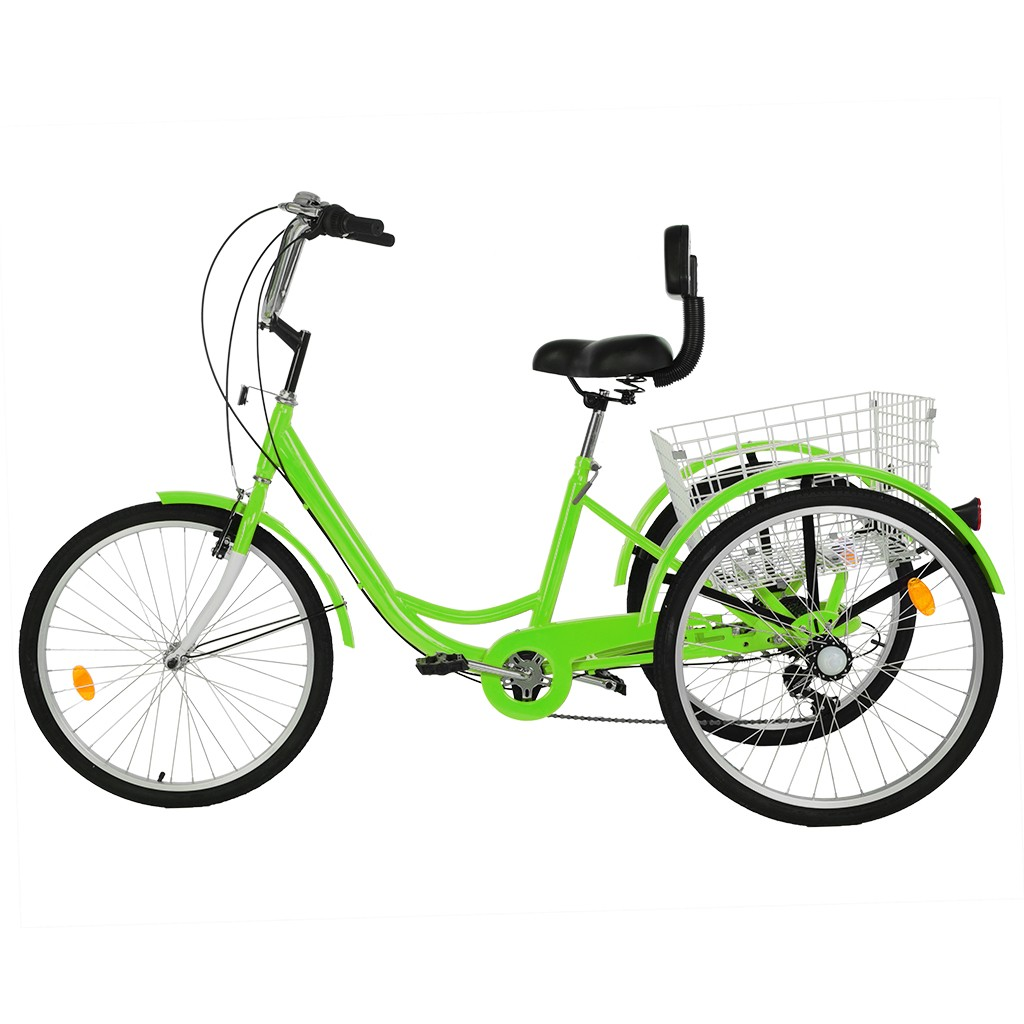 """Details about  /24/"""" White Adult Tricycle 1//7 Speed 3-Wheel For Shopping W// Installation Tools US"""