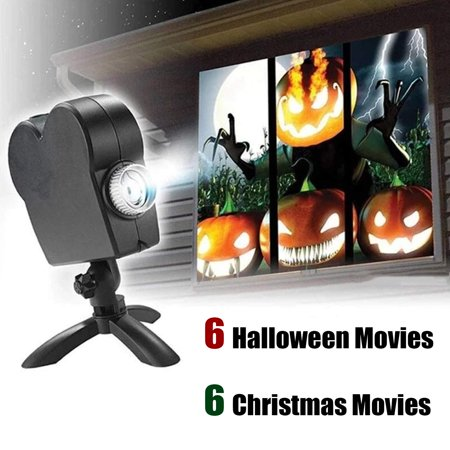 Peroptimist Window Wonderland Led Projector Lights, Christmas Window Projector Led Flood Light,12 Movies Projection Lamp Show, Outdoor/Indoor Festival Decorations Kids Gift ()