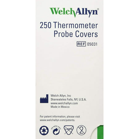 Welch-Allyn Disposable Probe Covers for SureTemp Plus 690 Thermometer - Qty of 250, 250/BOX By Welch