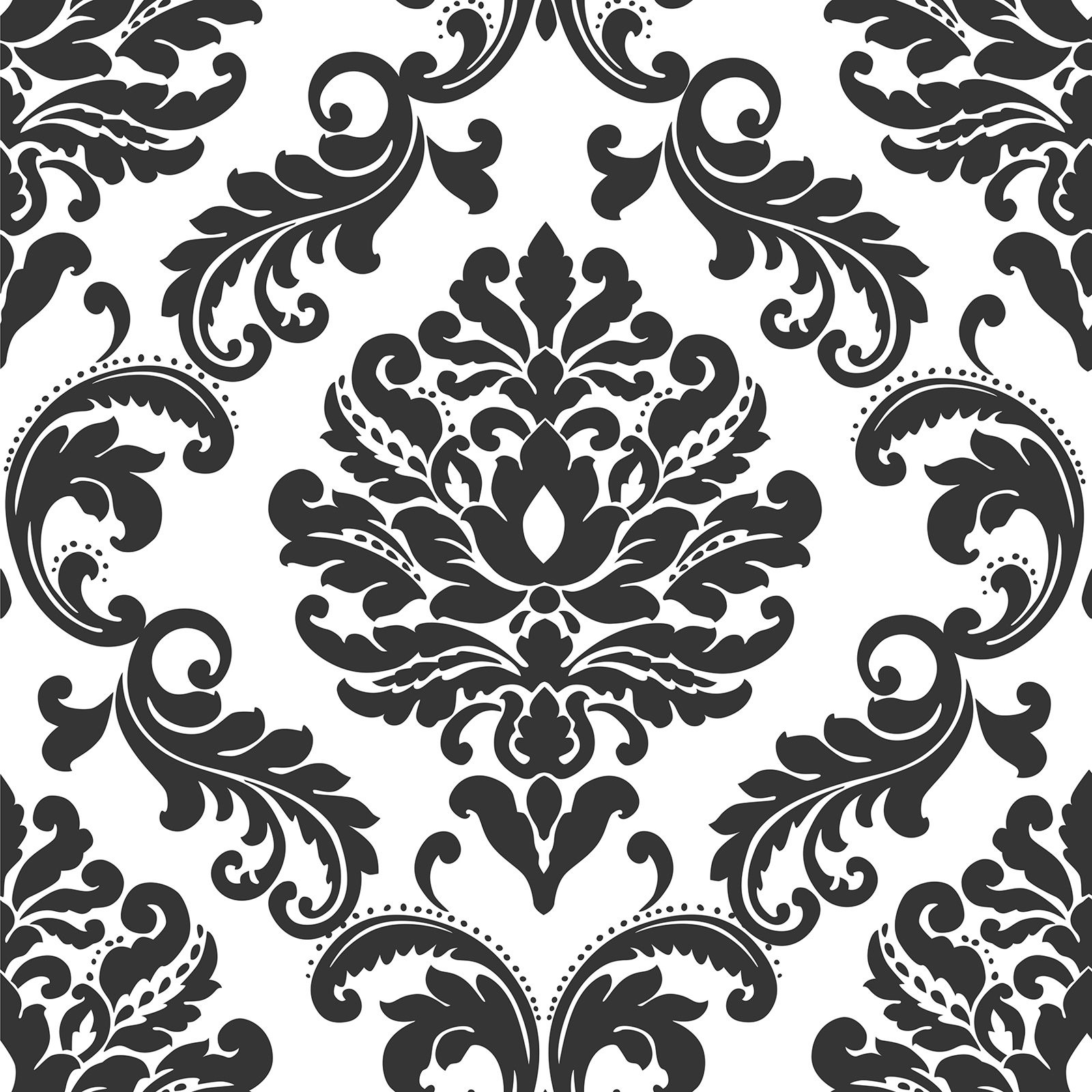 Brewster Ariel Damask Peel and Stick Wallpaper