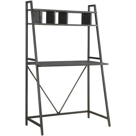 coaster top shelf writing desk. Black Bedroom Furniture Sets. Home Design Ideas