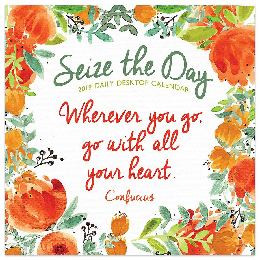 "2019 Seize the Day 5.5"" x 5.5"" January 2019-December 2019 Daily Desktop Calendar by TF Publishing"