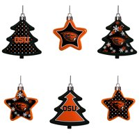 Oregon State Beavers Six-Pack Shatterproof Tree And Star Ornament Set - No Size