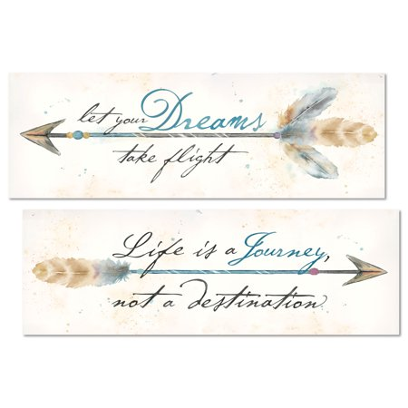 Beautiful Inspirational Watercolor-Style Arrows