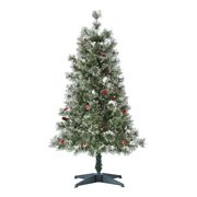 Holiday Time Pre-Lit Redland Spruce Artificial Christmas Tree, 4', Clear