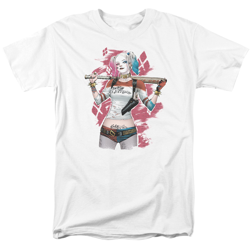 Suicide Squad Drawn Bat Mens Short Sleeve Shirt