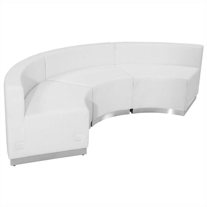 Flash Furniture Hercules Alon 3 Piece Reception Seating in White - image 4 de 4