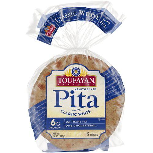 Toufayan White Whole Pitas, 12 oz