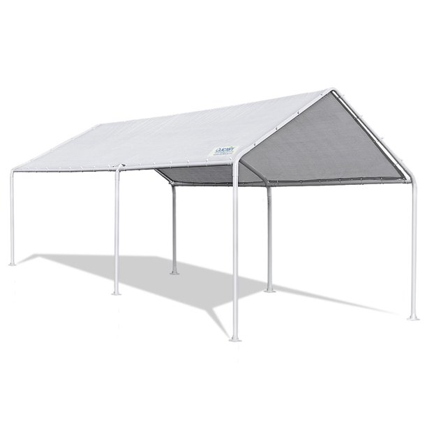 Quictent 20'X10' Upgraded Heavy Duty Carport Car Canopy Party Tent White