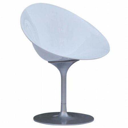 Fine Mod Imports FMI9227-white Eco Flatbase Dining Chair, White - image 1 of 1