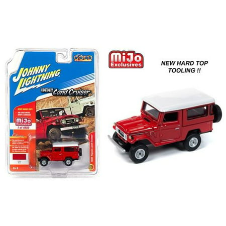 Johnny Lightning  1/64 Scale 1980 Toyota Land Cruiser Hard Top Red Diecast Model Car -
