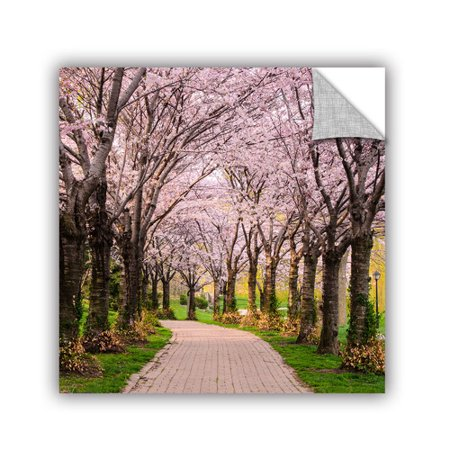 Artwall cherry blossom trail wall mural for Cherry blossom mural on walls