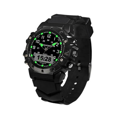 48-002 Combat Ana Black Strap Digital Watch with Black Dial