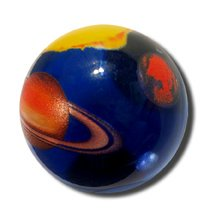 Solar System Marble 35mm Boxed Art Glass Shooter ()