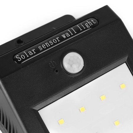 LED Solar Light PIR CDS Motion Sensor Lamp 8 LEDs 80 Lumens Waterproof - image 7 of 8