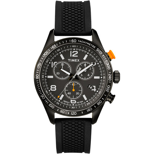 Timex Men's T2P043KW Ameritus Watch with Black Silicone Strap by Timex