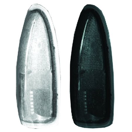 03-07 F250/F350 SD/Excursion Side Mirror Lenses with LED Amber Turn Signals, Smoke Lens, Set of 2