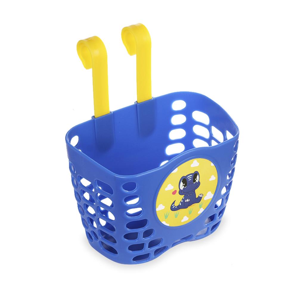 MINI-FACTORY Kids Bike Basket Cute Airplane//Cool Yellow Dino Pattern Bicycle Front Handlebar Basket for Kids