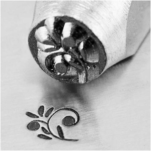ImpressArt Metal Punch Stamp 'Floral Swirl' 6mm (1/4 Inch) Design - 1 Piece
