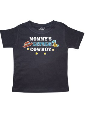 Mommys Little Cowboy with Cowboy Hat and Boots Toddler T-Shirt