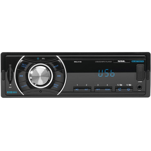 Soundstorm SSL Bluetooth Wireless Single Din Digital Media Car Receiver | ML41B