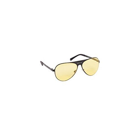 Versace Women's Aviator Sunglasses, Matte Black/Yellow, One (Versace Yellow Sunglasses)