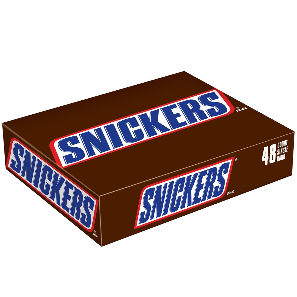 Snickers, Milk Chocolate Candy Bars, 2.07 Oz, 48 Ct