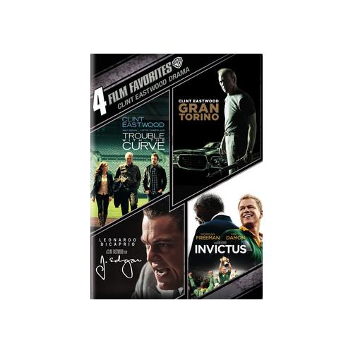 4 Film Favorites: Clint Eastwood Drama: Trouble With The Curve   Gran Torino   J. Edgar   Invictus by WARNER HOME VIDEO