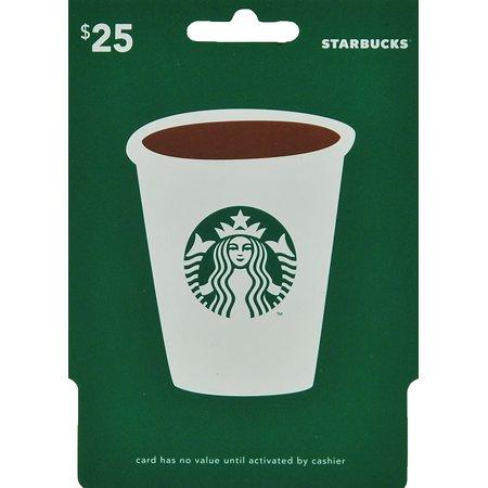 Starbucks 25 gift card walmart negle Choice Image