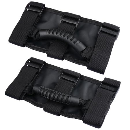 2PCS Roll Bar Grab Handles For Jeep Wrangler CJ YJ TJ JK 1955-2016 Black