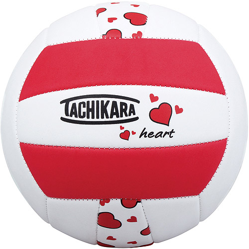 Tachikara HEART Sof-Tec Volleyball - Scarlet-White