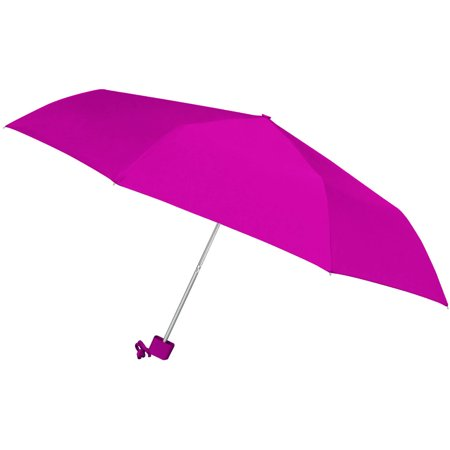 42 ultra lite super mini umbrella, windproof frame, color matching rubber spray handle](Pink Drink Umbrellas)